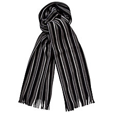 Buy Hugo Boss Fave Stripe Scarf, Black/Grey Online at johnlewis.com