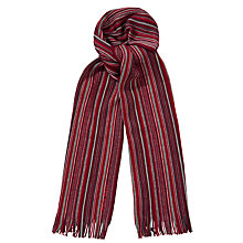 Buy Hugo Boss Stripe and Plain Wool Scarf and Hat Set, Multi, One Size Online at johnlewis.com