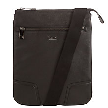 Buy BOSS Minimo Leather iPad Pouch, Black Online at johnlewis.com