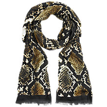 Buy Hobbs Snake Scarf, Green Online at johnlewis.com