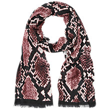 Buy Hobbs Snake Scarf, Rosewater Online at johnlewis.com