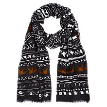 Buy NW3 by Hobbs Swallow Scarf, Black Multi Online at johnlewis.com