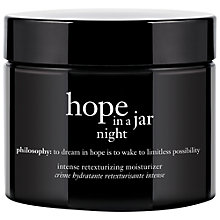Buy Philosophy Hope in a Jar Night Cream, 60 ml Online at johnlewis.com