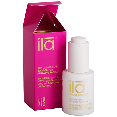 Buy Ila Spa Face Oil for Glowing Radiance, 30ml Online at johnlewis.com