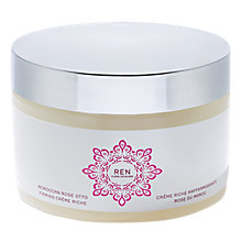 Buy REN Morrocan Rose Firming Crème, 200ml Online at johnlewis.com