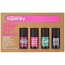 Buy Superdry Paint & Plane Nail Collection, 4 x 10ml Online at johnlewis.com