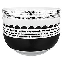 Buy House by John Lewis Marbles Cereal Bowls, Set of 4 Online at johnlewis.com
