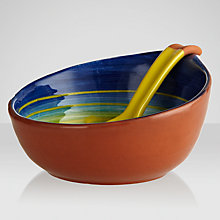 Buy John Lewis Cabo Bowl and Spoon, Swirl, Dia.16cm Online at johnlewis.com