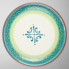 Buy John Lewis Cabo Side Plate, Turquoise, Dia.22cm Online at johnlewis.com