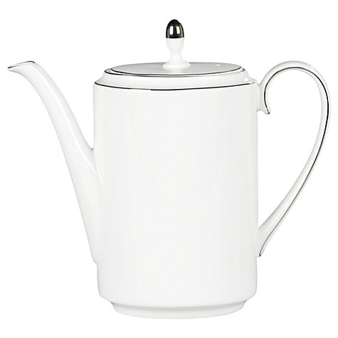 Buy Vera Wang for Wedgwood Blanc sur Blanc Coffee Pot Online at johnlewis.com