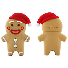 Buy Bone Collection Gingerman USB 2.0 Flash Drive, 8GB Online at johnlewis.com