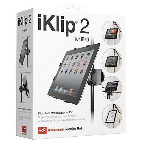 Buy iKlip 2, Universal Microphone Stand Adapter for 2nd, 3rd & 4th Generation iPad Online at johnlewis.com