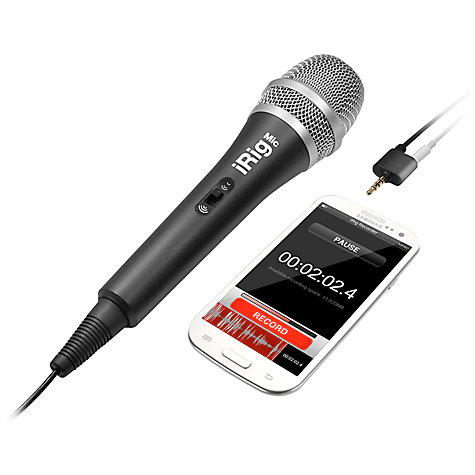 Buy iRig Mic, Handheld Microphone for iPhone, iPad, iPod touch & Android devices Online at johnlewis.com