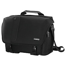 "Buy Samsonite Fotonox Camera Messenger 200 for DSLRs and Laptops up to 13.3"", Black Online at johnlewis.com"