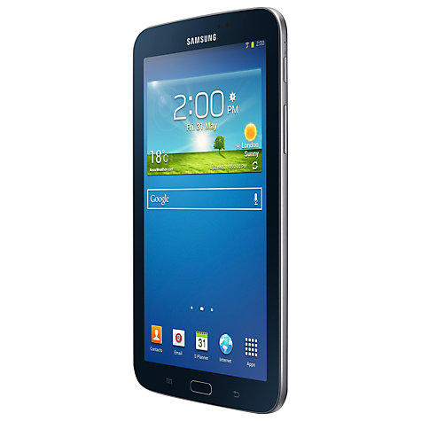 "Buy Samsung Galaxy Tab 3 7.0 Tablet, Marvell PXA, Android, 7"", Wi-Fi, 8GB Online at johnlewis.com"