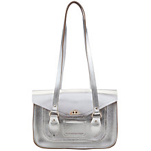 "Buy The Cambridge Satchel Company 14"" Shoulder Bag, Silver Online at johnlewis.com"