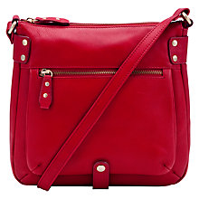 Buy John Lewis Carlyle Large Square Across Body Leather Handbag Online at johnlewis.com