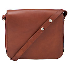Buy COLLECTION by John Lewis Ebury Leather Across Body Handbag, Tan Online at johnlewis.com