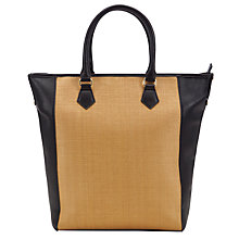 Buy COLLECTION by John Lewis City Shopper Bag, Black / Straw Online at johnlewis.com