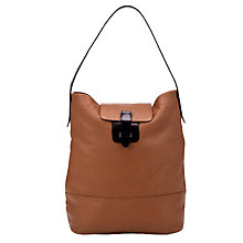 Buy Collection WEEKEND by John Lewis Tottenham Leather Hobo Handbag, Tan Online at johnlewis.com