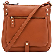 Buy John Lewis Carlyle Large Square Across Body Leather Bag Online at johnlewis.com