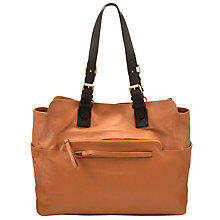 Buy Collection WEEKEND by John Lewis Chesman Leather Tote Handbag, Tan Online at johnlewis.com