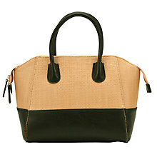 Buy COLLECTION by John Lewis City Straw Patent Trim Grab Bag Online at johnlewis.com
