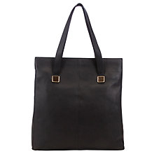 Buy COLLECTION by John Lewis Soft Shoulder North/South Leather Tote Bag, Black Online at johnlewis.com