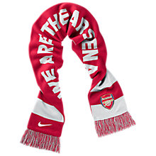 Buy Nike Arsenal Scarf, White/Red Online at johnlewis.com
