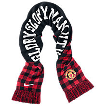 Buy Nike Manchester United Scarf, Black/Red Online at johnlewis.com