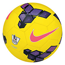 Buy Nike Strike Premier League Replica Hi-Visibility Football, Yellow Online at johnlewis.com
