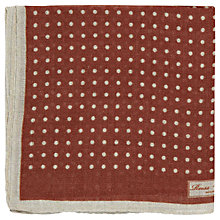 Buy Reiss Hampton Micro Polka Dot Pocket Square, Brown Online at johnlewis.com
