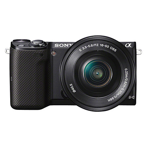 "Buy Sony NEX-5T Compact System Camera with 16-50mm & 55-210 IS Lens, HD 1080p, 16.1MP, Wi-Fi, NFC, 3"" LCD Screen Online at johnlewis.com"