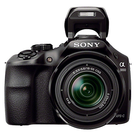 "Buy Sony ILC-E3000 Compact System Camera with 18-55mm IS Lens, HD 1080p, 20.1MP, 3"" LCD Screen Online at johnlewis.com"