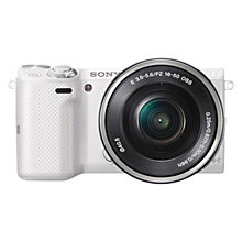 "Buy Sony NEX-5T Compact System Camera with 16-50mm Lens, HD 1080p, 16.1MP, Wi-Fi, NFC, 3"" LCD Screen Online at johnlewis.com"
