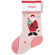 Buy Cambric & Cream Personalised Santa Stocking Online at johnlewis.com
