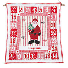 Buy Cambric & Cream Personalised Santa Advent Calendar Online at johnlewis.com