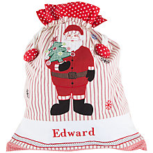 Buy Cambric & Cream Personalised Santa Sack Online at johnlewis.com