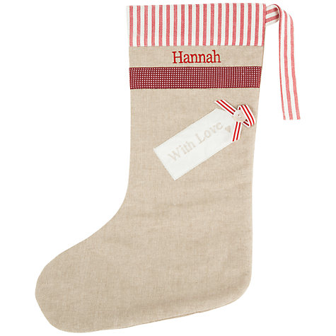 Buy Cambric & Cream Personalised With Love Stocking Online at johnlewis.com