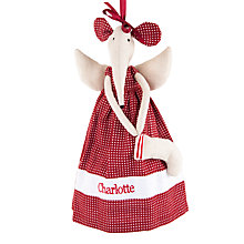 Buy Cambric & Cream Personalised Mouse Angel Tree Decoration Online at johnlewis.com