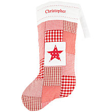Buy Cambric & Cream Personalised Star Stocking Online at johnlewis.com