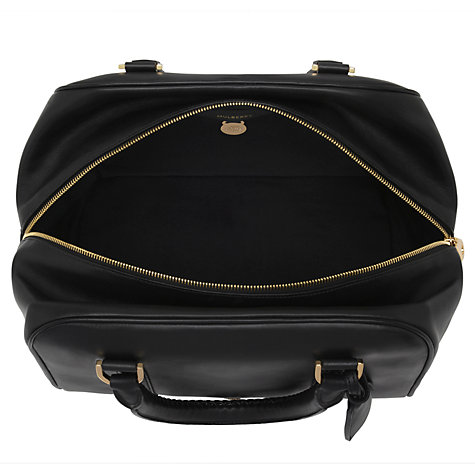 Buy Mulberry Pembridge Clipper Leather Tote Handbag, Black Online at johnlewis.com