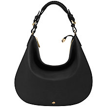 Buy Mulberry Pembridge Leather Hobo Handbag, Black Online at johnlewis.com