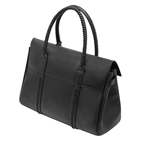 Buy Mulberry Pembridge Bayswater Leather Grab Bag, Black Online at johnlewis.com