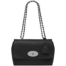 Buy Mulberry Lily Leather Shoulder Bag, Black Online at johnlewis.com