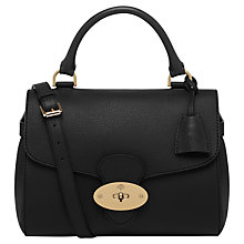 Buy Mulberry Primrose Leather Bag, Grainy Black Online at johnlewis.com