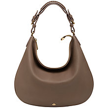 Buy Mulberry Pembridge Leather Hobo Bag, Taupe Online at johnlewis.com