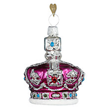 Buy Bombki Little Royal Crown Glass Hanging Decoration, Multi Online at johnlewis.com