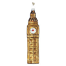 Buy Bombki Large Big Ben Glass Tree Decoration, Multi Online at johnlewis.com