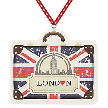 Buy Deck The Halls Travel Case Wooden Hanging Decoration Online at johnlewis.com